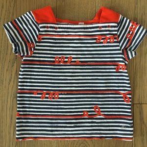 Petit Bateau Girls' Whimsical striped T-shirt